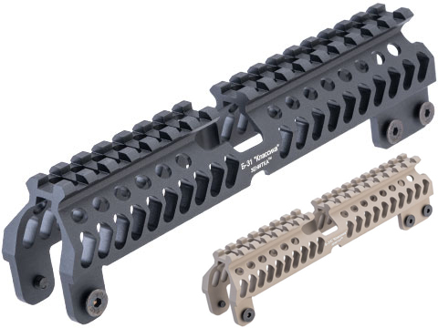 5KU Aluminum B-31 Full Length Railed Upper Handguard for AK B-30 Handguards