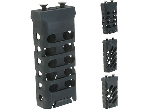 5KU Skeletonized CNC Machined Aluminum KeyMod Vertical Grip