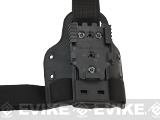 SAFARILAND 6004 SML Tactical Drop Leg / Thigh Plate w/ QLS Receiver - Black