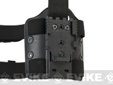 SAFARILAND 6004 SML Tactical Double Strap Drop Leg / Thigh Plate w/ QLS Receiver - Black