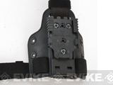 SAFARILAND 6005 SML Tactical Drop Leg / Thigh Plate w/ QLS Receiver - Black