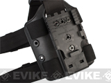 SAFARILAND 6005 SML Tactical Double Strap Drop Leg / Thigh Plate w/ QLS Receiver - Black
