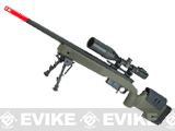 ASG Licensed McMillan M40A5 Gas Powered Bolt Action Airsoft Sniper Rifle - OD Green