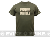 Rothco Proud Infidel T-Shirt - OD Green (Medium)
