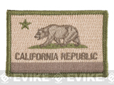 Evike.com Tactical Embroidered U.S. State Flag Patch (State: California-Multicam The Golden State)