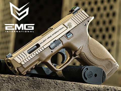 EMG / SAI / Smith & Wesson Licensed M&P 9 Full Size Airsoft GBB Pistol (Package: Tan / Gun Only)