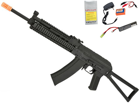CYMA Standard Stamped Metal AK-74 KTR RIS Airsoft AEG Rifle w/ Steel Folding Stock (Package: Gun Only)
