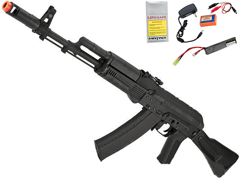 CYMA Standard Stamped Metal AK-74 Airsoft AEG Rifle w/ Synthetic Folding Stock