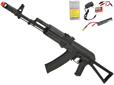 CYMA Standard Stamped Metal AK74 Airsoft AEG Rifle w/ Steel Folding Stock