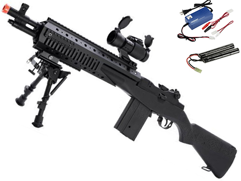 Evike.com Class I Custom Socom 16 Devil Full Size Airsoft AEG Rifle - (Package: Add 9.6v NiMH Battery + Charger)