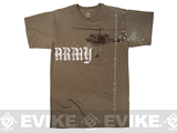 Rothco Vintage Army Copter T-Shirt - Brown (Medium)