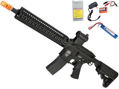 Evike Class I Custom G&P M4 Stealth Series Airsoft AEG Rifle - 12