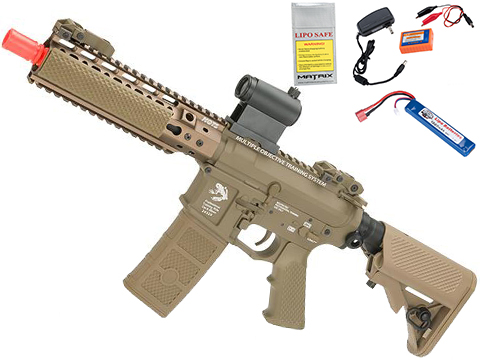 G&P MOTS High Speed 8 Keymod M4 Carbine Airsoft AEG Rifle (Package: Dark Earth / Add Battery + Charger)