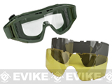 Valken VTAC Tango Tactical Goggles 3-Lens Set (Color: OD Green)