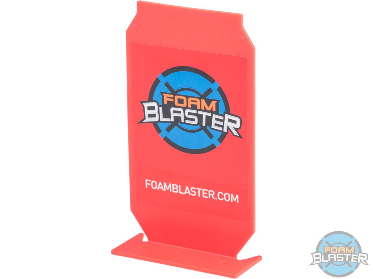 Foam Blaster ePopper Shooting Target for Jet Nerf Boomco Foam Blasters (Color: Red)
