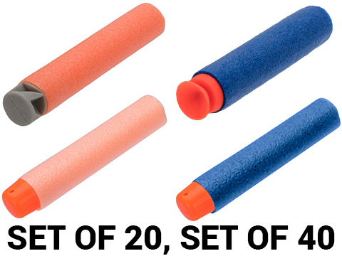 Blaze Storm Set of Foam Soft Darts (Color: Blue / Set of 40 / Suction Cup and Soft Tip)