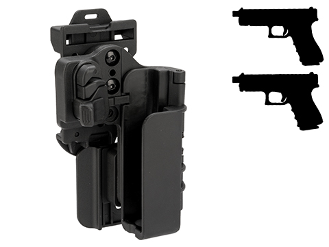 Quantum Mechanics OWB Condition 3 Carry Quick Tactical Holster (Model: Glock 17 / 22 Right Hand)