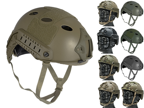 6mmProShop Advanced PJ Type Tactical Airsoft Bump Helmet (Color: Dark Earth / Medium - Large)