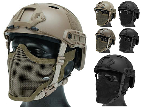 6mmProShop Bump Type Tactical Airsoft Helmet w/ Gen.1 Strike Mask