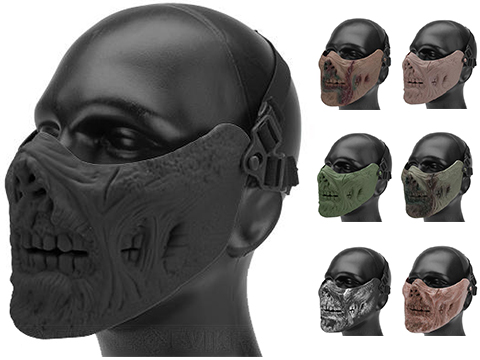 6mmProShop Iron Face Mesh Striker V1 Lower Half Mask for Use with Bump Helmets (Color: Black)
