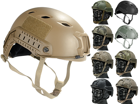6mmProShop Advanced Base Jump Type Tactical Airsoft Bump Helmet (Color: Dark Earth / Medium - Large)