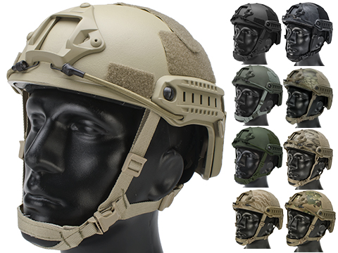6mmProShop Advanced High Cut Ballistic Type Tactical Airsoft Bump Helmet (Color: Dark Earth / Medium - Large)