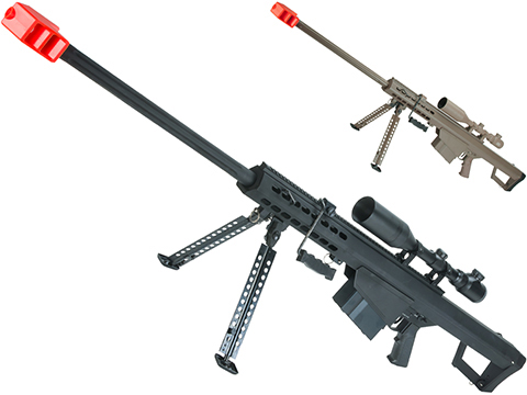 6mmProShop Custom Long Range Airsoft AEG Sniper Rifle (V.2 Gearbox)(Package: Black / Long Barrel / No Scope)