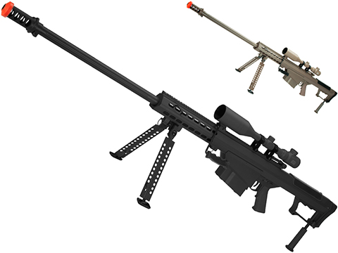 6mmProShop Barrett Licensed M107A1 Gen2 Long Range Airsoft AEG Sniper Rifle (Color: Black / 29 Barrel)