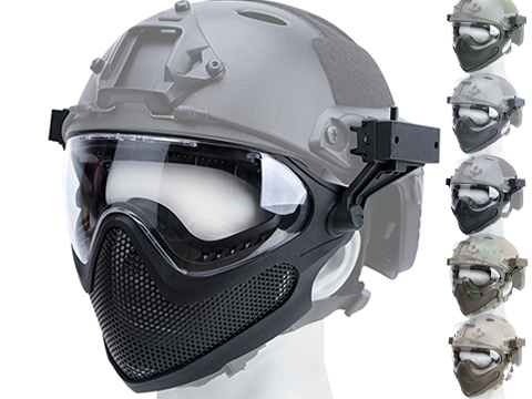 6mmProShop Pilot Face Mask w/ Steel Mesh Lower Face Protection