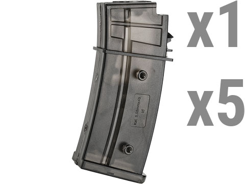 6mmProShop 300rd FlashMag Hi-Cap Magazine for G36 Series Airsoft AEG Rifles by UFC (Package: One Magazine)