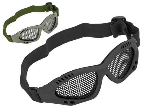 6mmProShop Zero Wire Mesh Adjustable Shooting Range Goggles (Color: Black)