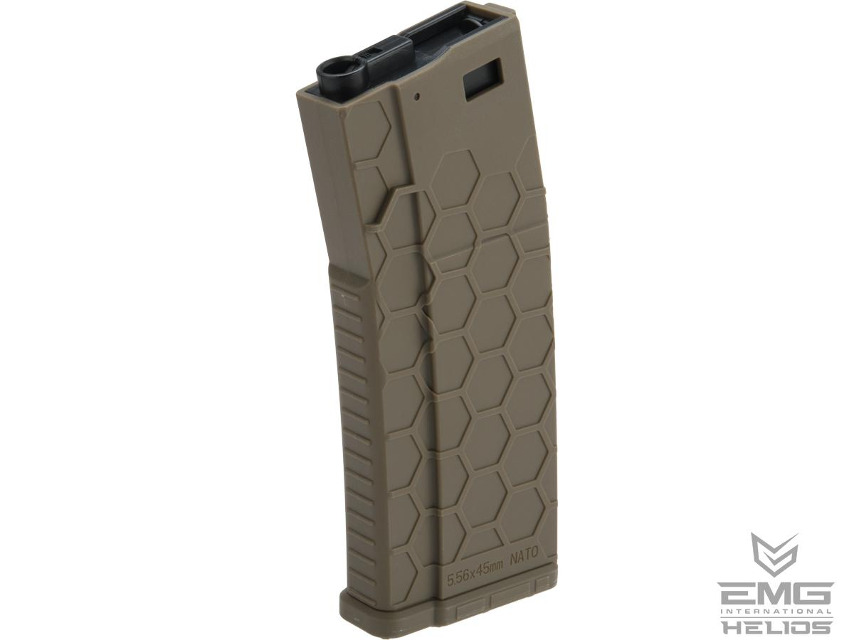 EMG Helios Hexmag Airsoft Polymer 300rd FlashMag Magazine for M4 / M16 Series Airsoft AEG Rifles (Color: Dark Earth / Single)