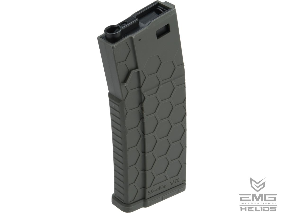 EMG Helios Hexmag Airsoft Polymer 300rd FlashMag Magazine for M4 / M16 Series Airsoft AEG Rifles (Color: OD Green / Single)