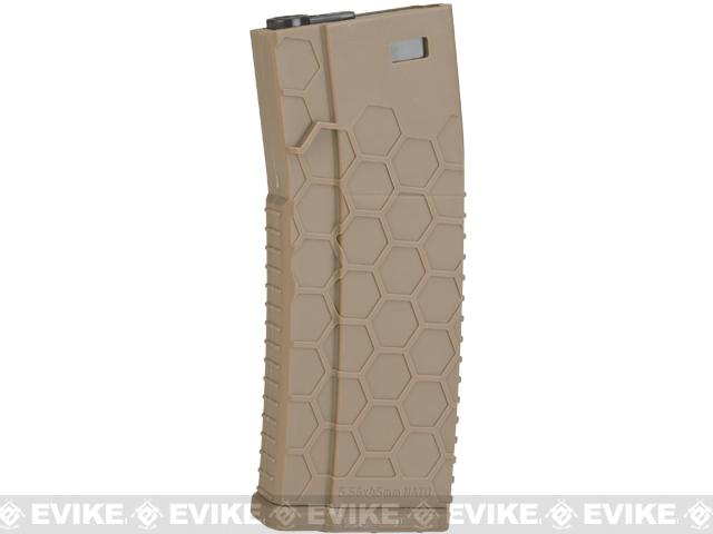 EMG Helios Hexmag Airsoft 120rds Polymer Mid-Cap Magazine for M4 / M16 Series Airsoft AEG Rifles (Color: Flat Dark Earth / Single)