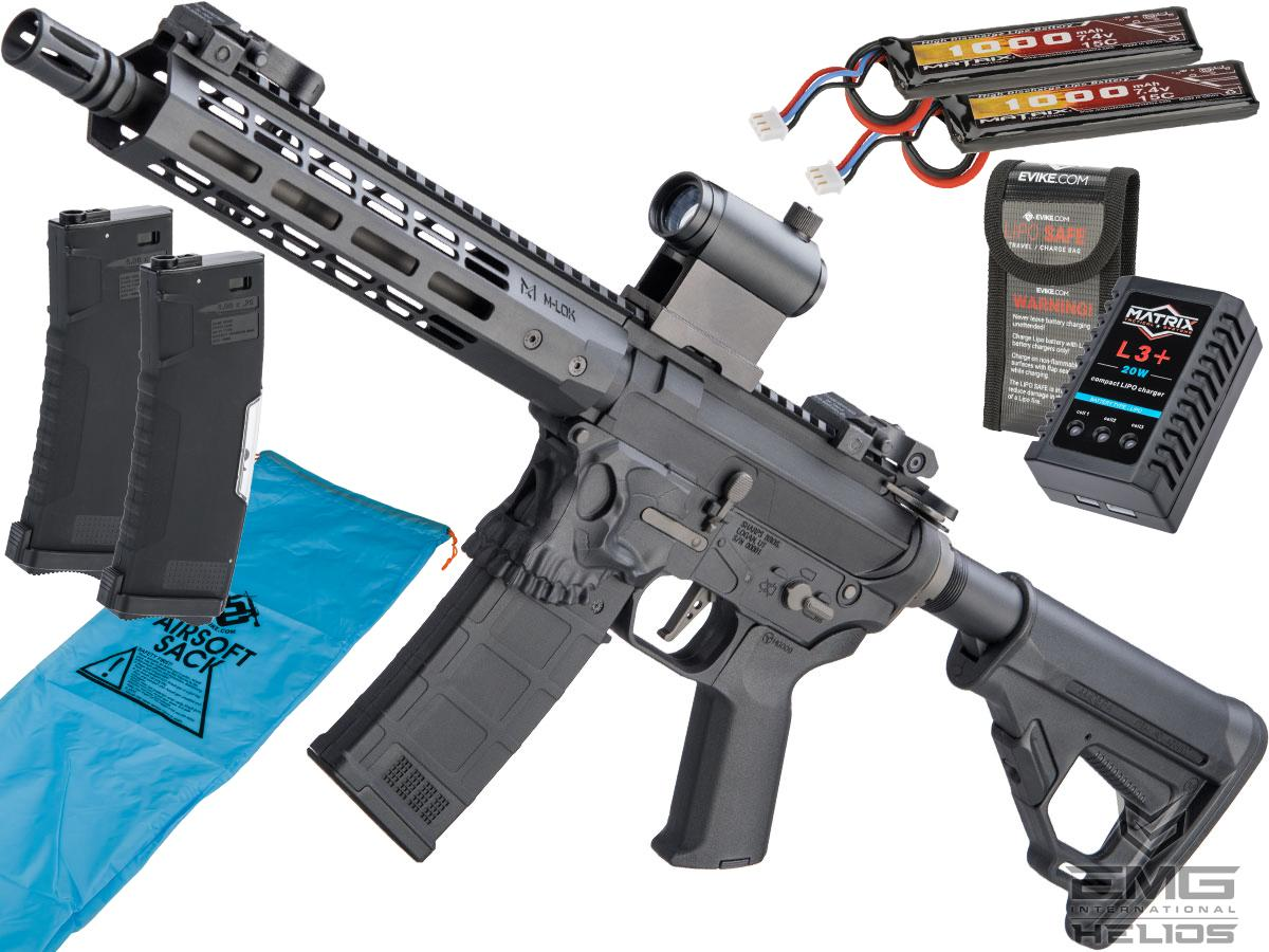 EMG Helios / Sharps Bros Jack Licensed M4 Airsoft AEG Rifle (Model: 10 SBR / Go Airsoft Package)