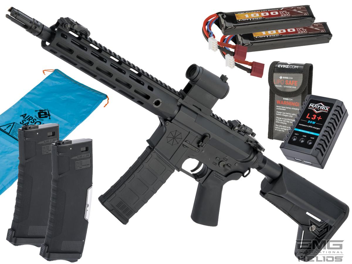 Helios Umbrella Corporation Weapons Research Group Licensed M4 M-LOK Airsoft AEG Rifle (Color: Black / SBR / Go Airsoft Package)