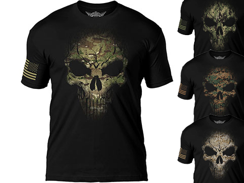 7.62 Designs Skull Battlespace Premium Men's Patriotic T-Shirt