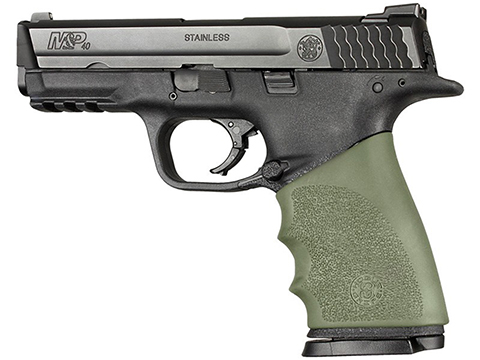 Hogue Handall Hybrid Grip Sleeve (Color: OD Green/ Model: S&W M&P 9MM, 40S&W, 357SIG)