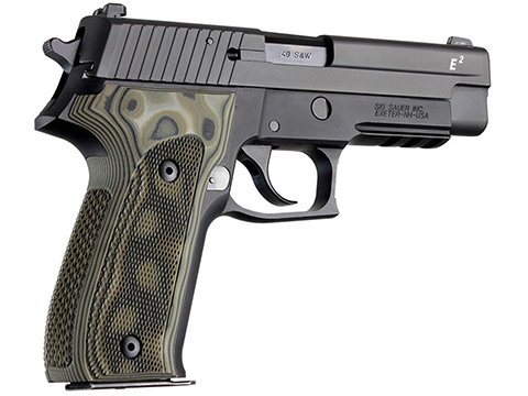 Hogue SIG Sauer P226 DA/SA Checkered G10 G-Mascus  (Color: Green / Model: Sig Sauer P226 DA/SA)