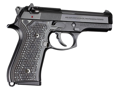 Hogue Beretta 92FS Pirahna G10 G-Mascus  (Color: Black/Grey / Model: Beretta 92FS)