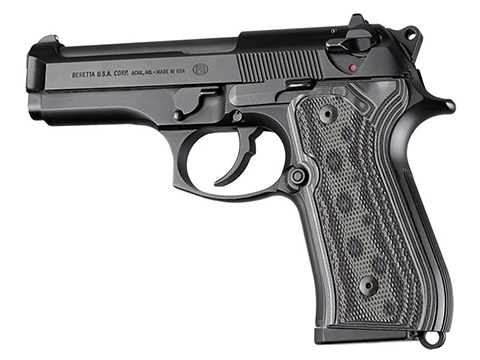 Hogue Beretta 92FS Checkered G10 G-Mascus  (Color: Black/Grey / Model: Beretta 92FS)