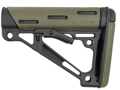 Hogue AR-15/M-16 OverMolded Collapsible Buttstock for Mil-Spec Buffer Tube (Color: OD Green)