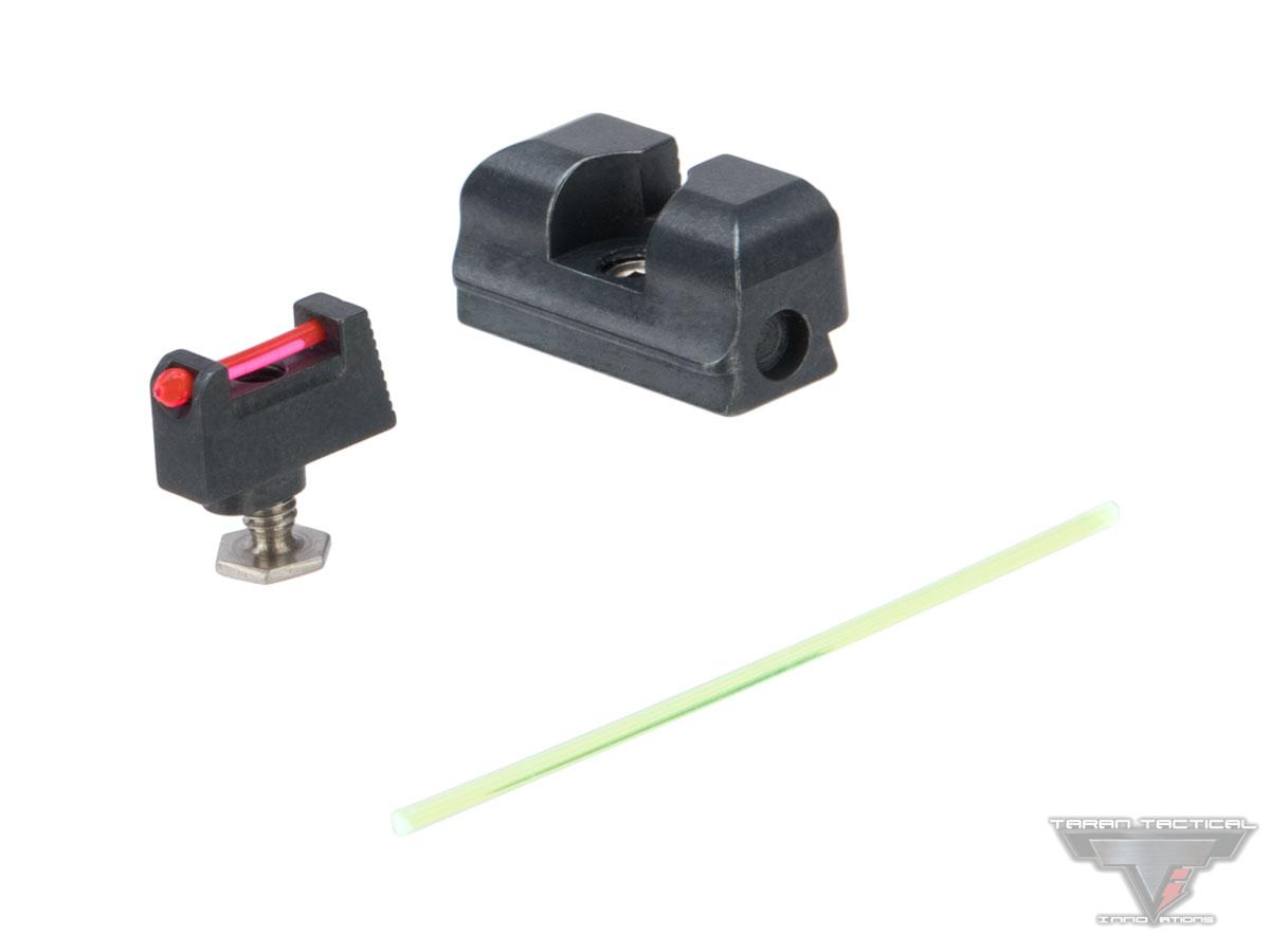 Taran Tactical Innovations Ultimate Fiber Optic Sight Set for GLOCK MOS Pistols (Model: Standard Height)