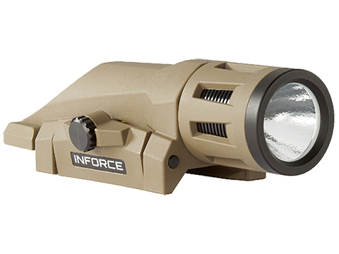InForce WML Weapon Mounted Multifunction White LED Tactical Light (Color: Flat Dark Earth / 400 Lumen / White & IR )