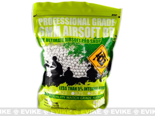 Evike MAX Precision 6mm Airsoft BBs (Weight: .23g / 5000 Rounds / White)