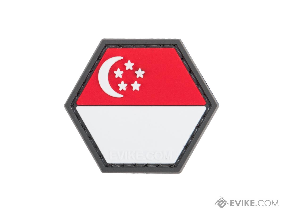 Operator Profile PVC Hex Patch Flag Series (Country: Singapore)