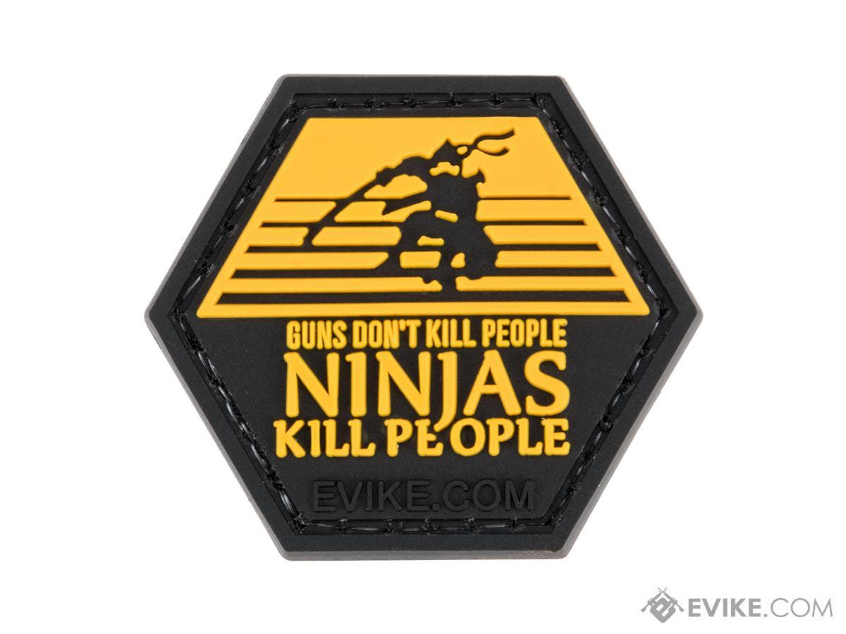 Operator Profile PVC Hex Patch Pop Culture Series 5 (Style: Guns Don't Kill People Ninjas Do)