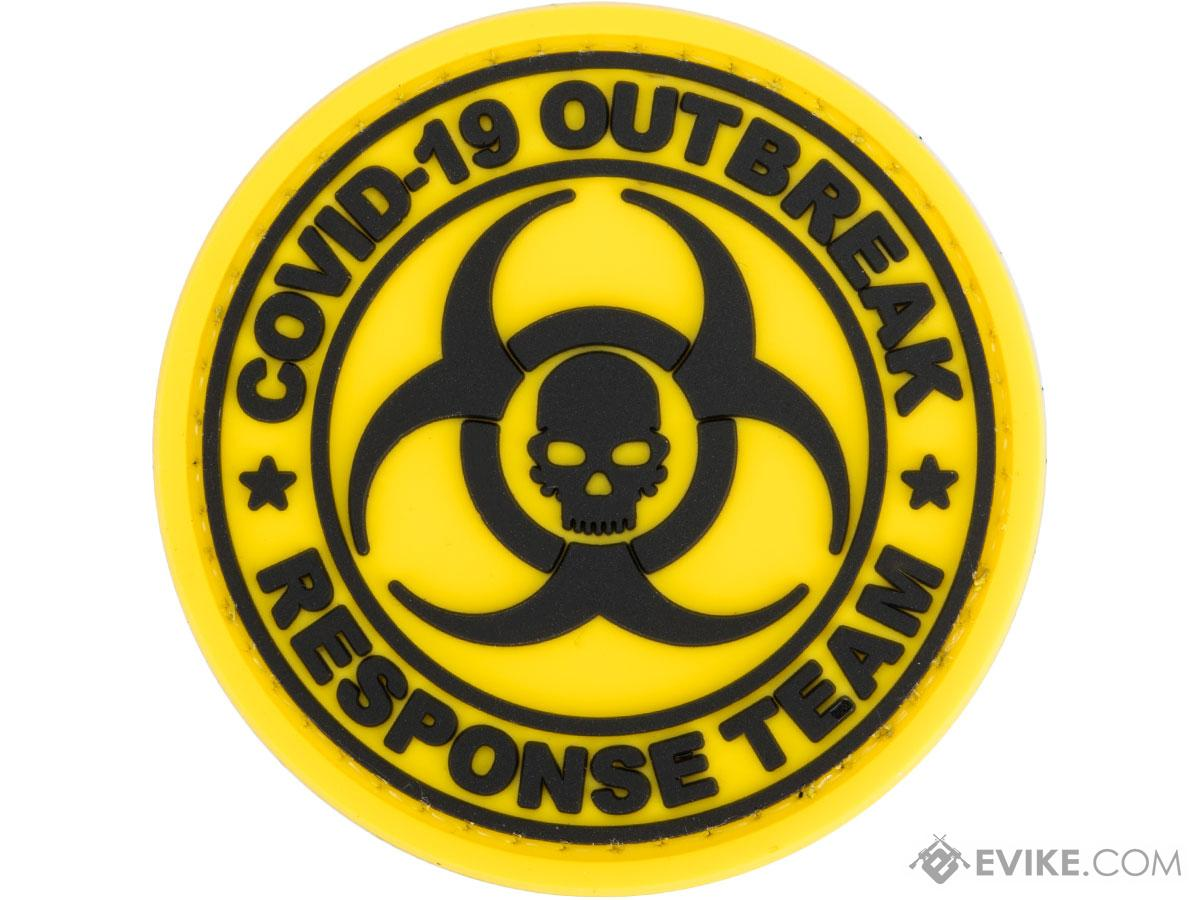 Evike.com COVID-19 Awareness PVC Morale Patches (Style: Outbreak Response Team / Yellow)