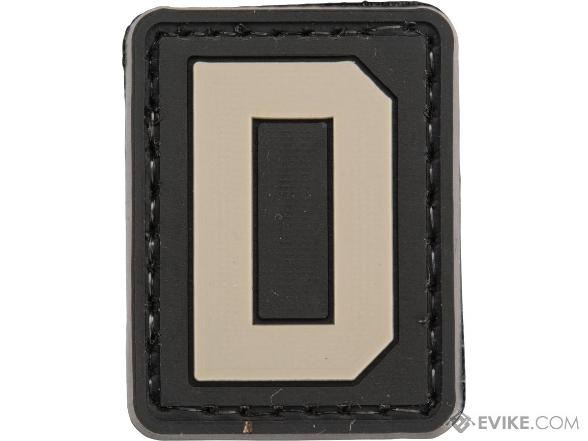 Evike.com PVC Hook and Loop Letters & Numbers Patch Black/Grey (Letter: D)