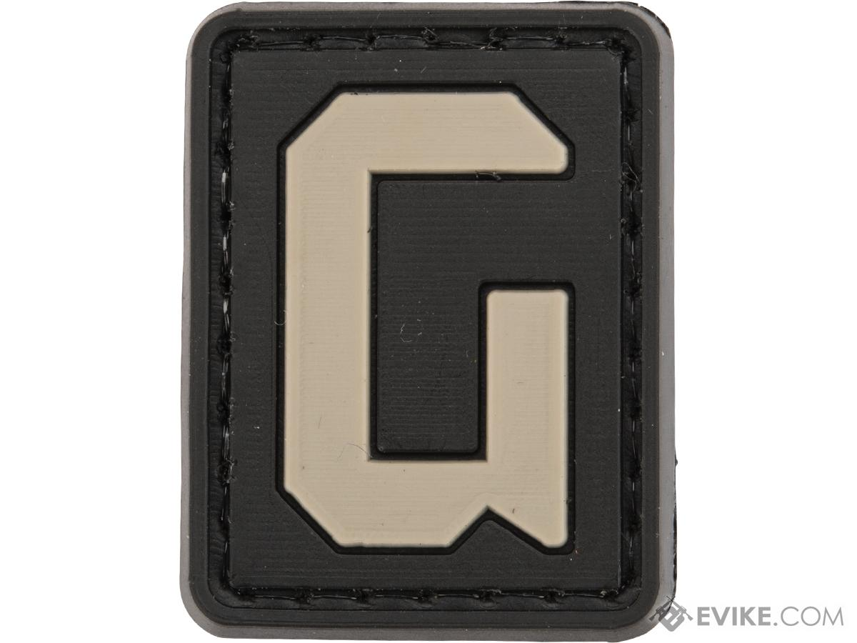 Evike.com PVC Hook and Loop Letters & Numbers Patch Black/Grey (Letter: G)